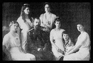 Familia del Zar Nicolás II - El pequeño es el zarevich Alexis