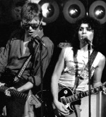 David Bowie y Marc Bolan - musicos